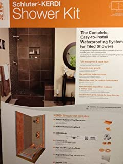Schluter Kerdi 32 Inch X 60 Inch Off Center Shower Kit With Stainless
