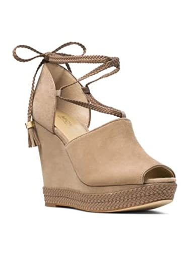 1f9f0b40501b Image Unavailable. Image not available for. Color  Michael Michael Kors  Hastings Lace Up Platform Wedge Sandals ...