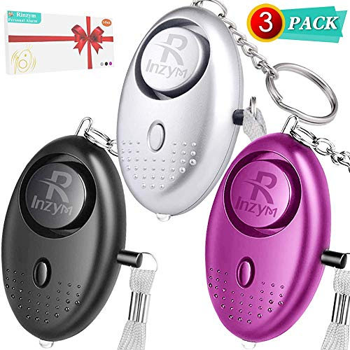 Personal Alarms For Women Rinzym -【Self-Defense】135DB Safesound Emergency Alarms, Compact Carry Alarms Keychain with LED Light For Women Kids and Elderly, Rape Whistle Safety Siren - Battery Included