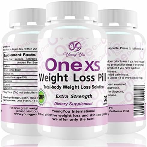 One XS Diet Pills Pharmaceutical Grade Weight Loss Supplement. Appetite Suppressant Fat Burner. Extra Strength Weight Loss Pills