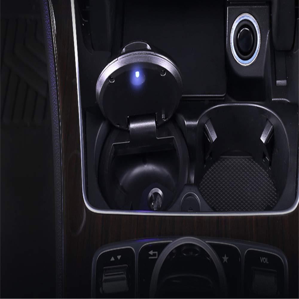 Cendrier de voiture allum/é V/éhicule multifonctionnel Universel anti-fum/ée Bouche Efficace Ignifuge D/étachable Nettoyage D/étachable Espace ferm/é
