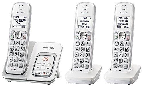 Panasonic KX-TGD533W Cordless Phone with Answering Machine - 3 Handsets (Certified Refurbished)