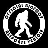 CCI Official Bigfoot Response Vehicle Funny Decal Vinyl Sticker|Cars Trucks Vans Walls Laptop| White |5.5 x 5.5 in|CCI1493