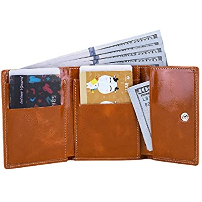 Itslife Slim Minimalist Front Pocket RFID Blocking Leather Wallets for Women