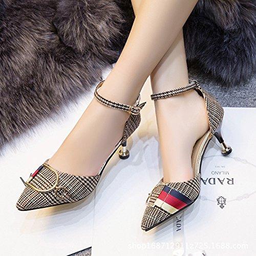 Mtal Femme 1color Chaussures Femmes Creux Talons Bonnes En Pour Polyvalent Avec Trucs qz7FFI