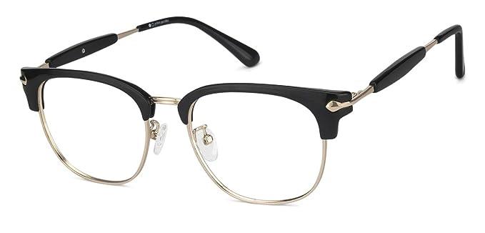 7a6f5fe2c62c0 John Jacobs Black Golden Clubmaster Medium Steel Unisex Eyeglasess ...