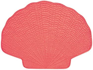 Amazon Com C F Home Shell 14 X 20 Coral Cotton Reversible Machine Washable Placemat Set Of 4 Shell Placemat Pink Home Kitchen