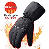 ❤Electric Battery Operated Heating Gloves Men & Women-Outdoor Sport Ski Lithium Battery Self Heated Gloves,Waterproof Insulated Heating Driving Gloves Prefer to Motorcycle,Hunting,Running etc