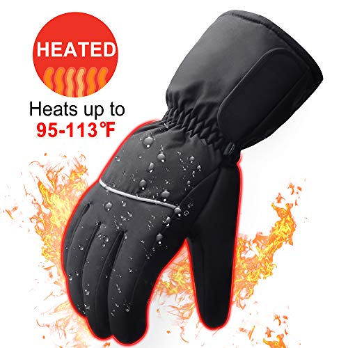❤Electric Battery Operated Heating Gloves Men & Women-Outdoor Sport Ski Lithium Battery Self Heated Gloves,Waterproof Insulated Heating Driving Gloves Prefer to Motorcycle,Hunting,Running etc by SVPRO