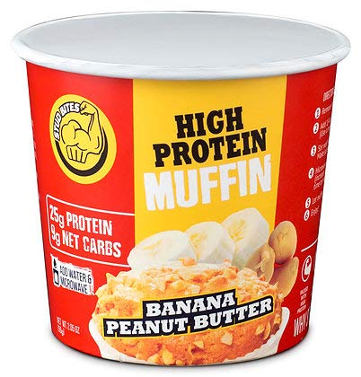 Stud Bites | High-Protein Muffin | 25g Protein, 9g Net Carbs (Banana Peanut Butter, 12-Pack) - Stud Seal