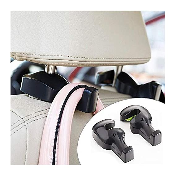Inditradition Universal Car Back Seat Headrest Hook   Hanging Holder for Purse, Bags, Polybags, Handbags, Groceries