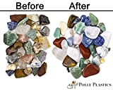 Polly Plastics Rock Tumbler Media Grit Refill, 2 lb Medium 180/220 Silicone Carbide Grit, Stage 2 for Tumbling Stones