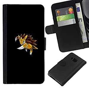 LECELL--Cuero de la tarjeta la carpeta del tirón Smartphone Slots Protección Holder For HTC One M9 -- Sandslah P0kemon --