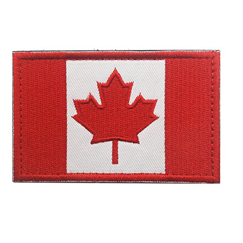 e31ccfd85bc3 Canadian Flag Maple Leaf Patch Canada Hook Loop Embroider Sew On Motorcycle  Biker TacticalTags Patch for Travel Backpack Hats Jackets Team Uniform ...
