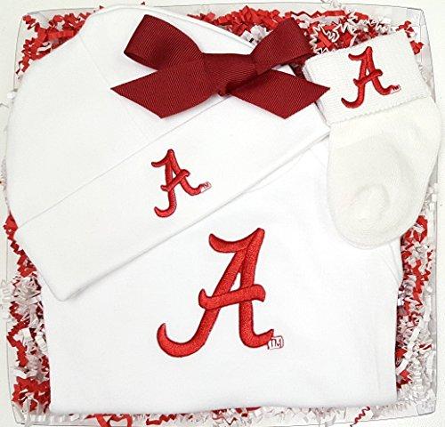 Alabama Crimson Tide 3 Piece Baby Clothing Gift Set (Newborn)
