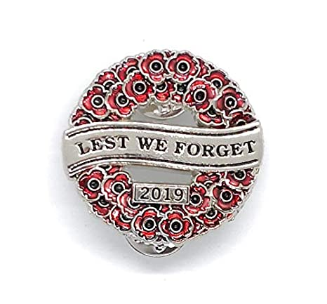 Never Forgotten Poppy Wreath pin