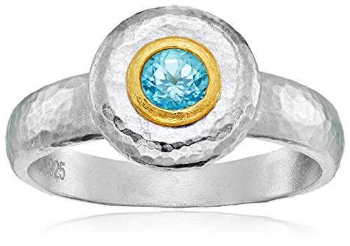 Gurhan Droplet Sterling Silver Blue Topaz Ring, Size 7 Contemporary Ring Settings