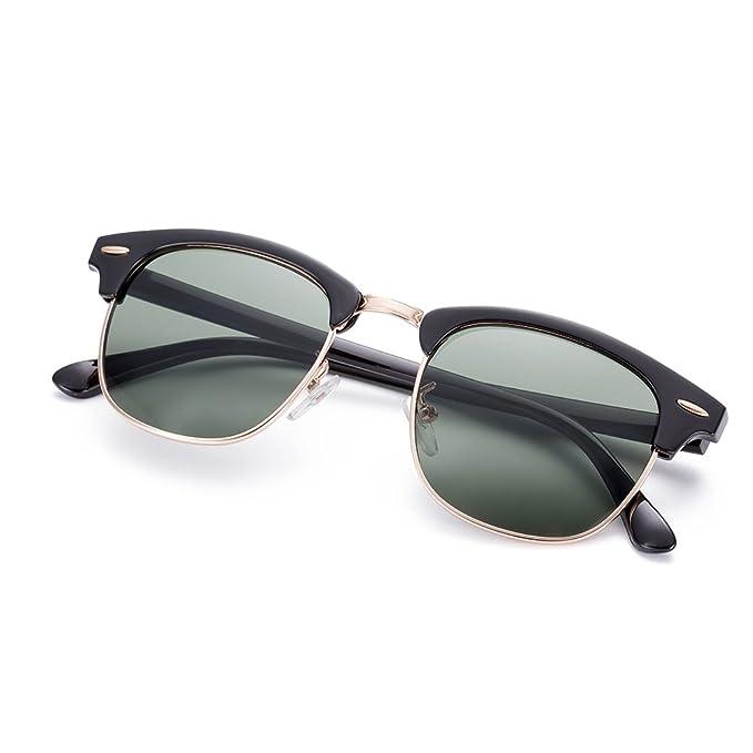 Nykkola gafas de sol polarizadas, marco parcialmente sin montura, tipo Wayfer para mujeres y