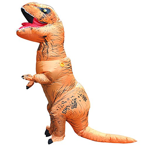 [T-Rex Dinosaur Inflatable Adult Trex Costume Blow Up Suit For Halloween Jumpsuit(One Size)] (Fan Costumes)