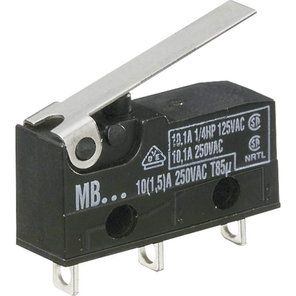 tastend 1 St. EIN Hartmann Mikroschalter MBF5B 250 V//AC 10 A 1 x EIN//
