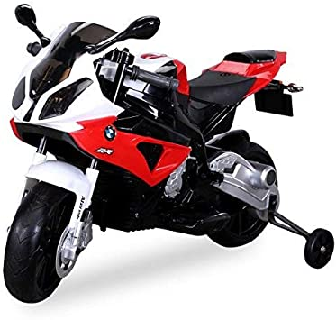 Kids Electric Motorcycle Licensed Children S Motorbike Bmw S 1000 Rr Electric Ride On Toy Kids Toy Red Amazon De Spielzeug