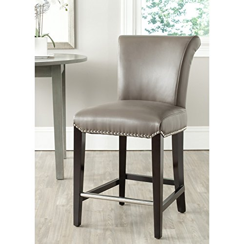 Safavieh Mercer Collection Seth Clay Leather 25.9-inch Counter Stool  sc 1 st  Amazon.com & Leather Counter Height Bar Stools: Amazon.com islam-shia.org