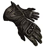 Olympia 340 Vented Kevlar Protector Motorcycle Sport Gloves (Black, X-Large)