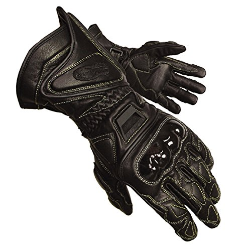 Olympia 340 Vented Kevlar Protector Motorcycle Sport Gloves (Black, ()