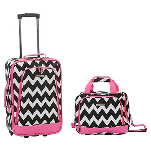 rockland-2-piece-expandable-luggage-set-pink-chevron-one-size