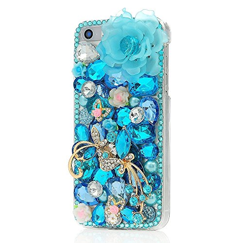 [Bling case] for iPhone 6 Plus,EVTECH for iPhone 6 Plus/iPhone 6s Plus 5.5 Inch 3D Handmade Fashion Crystal Rhinestone Bling Case Cover Hard Case Clea…