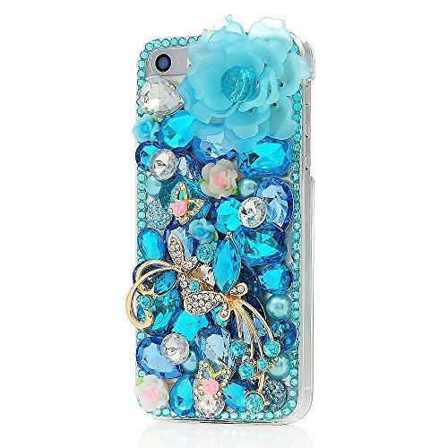 EVTECH(TM) für Iphone 4s/4g Bling Glitter Diamant Schutzhülle/Transparent Hart Kunststoffe Hülle/strass Etui Schale/Plastik Handytasche/Schale case cover