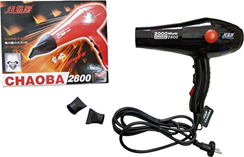 CHOABA 2800 BLACK Professional Stylish Hair Dryers For Womens And Men Hot And Cold Dryer with Thin Styling Nozzler, Blow Dry, Hot & Cold Air, Hair Dryer For Womens, Hair Dryer For Men (2000W)