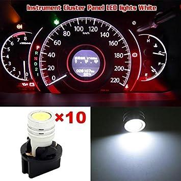 10Pcs White 5SMD LED Dash Gauge Cluster Light Bulb w// Lock Socket T10 168 158