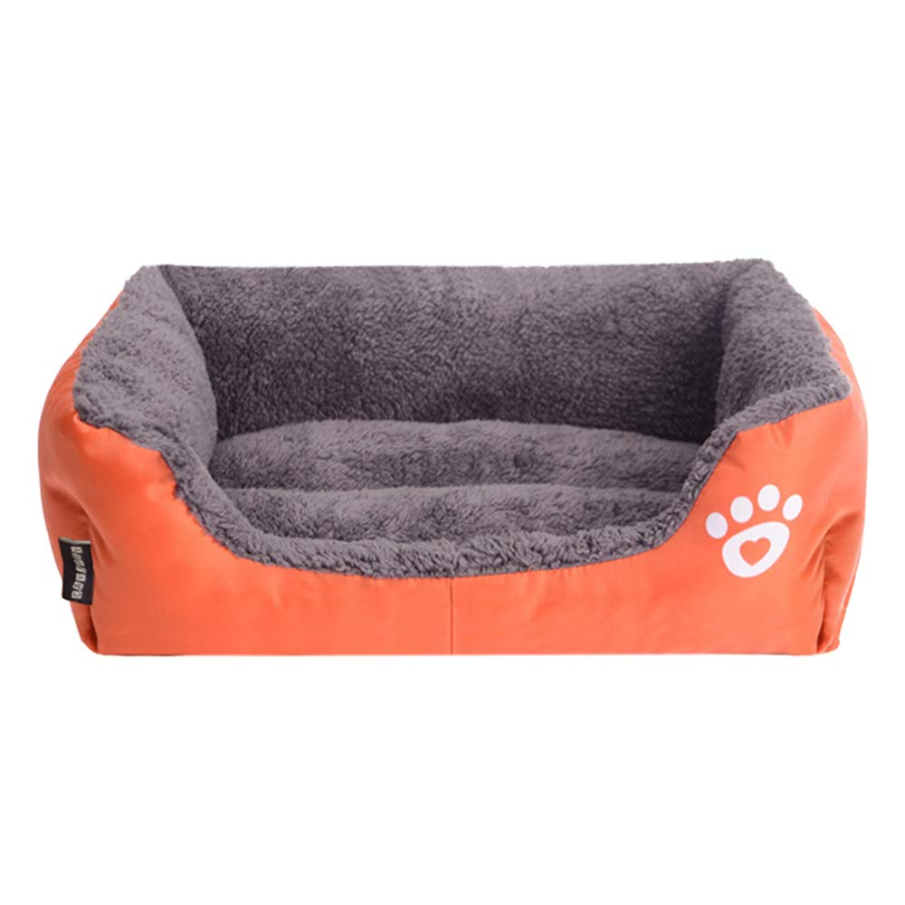584514cm JiaJia- Pet Nest Comfortable Breathable Autumn Winter Kennel Cat Mat Dog Mat Teddy Bomei Bear golden Retriever Four Seasons Available orange Kitten Puppy pet nest (Size   58  45  14cm)