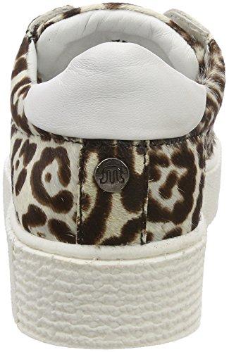 Gris Baskets cheetah White Hairon Leather Zj6 Cato Maruti Femme black gfq114