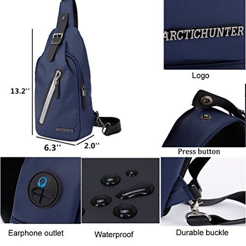 Arctic Hunter Honda Bolsas de Mensajero Bolsa de Hombre Bandolera Mochila Azul