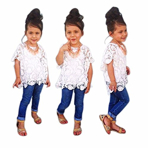 Ecosin Girls White Clothes Outfits