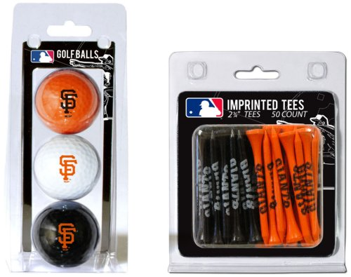 San Francisco Giants Team Ball - MLB San Francisco Giants 3 Golf Balls And 50 Golf Tees