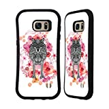 Official Monika Strigel Wolf Animals And Flowers 2 Hybrid Case for Samsung Galaxy S7 edge