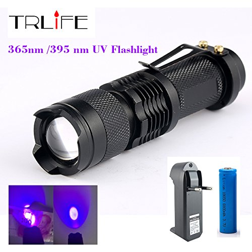 CREE LED UV Flashlight SK68 Purple Violet Light UV 395nm Lam