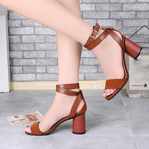 Brown Strappy Lolittas Roman Gladiator 6 Ladies 2 Peep Thick Summer Slingback Sandals Shoes Chunky High Size Wide Heel Pretty Toe Fit wnRxZngEr