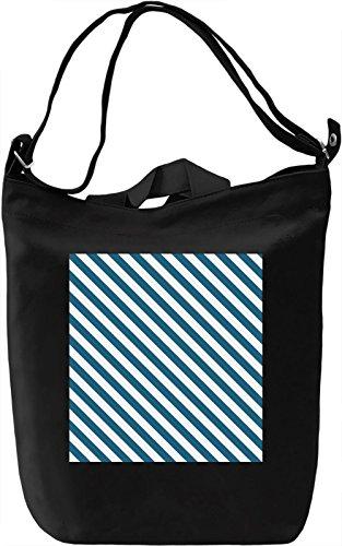 Lines Print Borsa Giornaliera Canvas Canvas Day Bag| 100% Premium Cotton Canvas| DTG Printing|