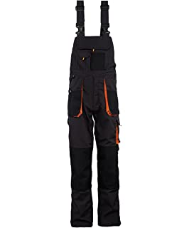 424d2fede63 Stenso Emerton© - Mens Bib and Brace Dungarees Overalls - Heavy-Duty Grey