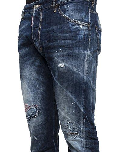 Dsquared2 Homme S74LB0088S30342470 Bleu Coton Jeans