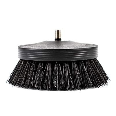 """SGCB PRO 3.5"""" Carpet Drill Brush With Drill Attachment, Heavy Duty Car Detailing Scrubbing Brush Pneumatic Scrubber Stiff Brush For Cleaning Car Interior Carpet Upholstery Leather Seat Floor Mat Tires: Automotive"""