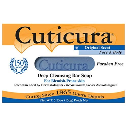 Cuticura Deep Cleansing Face and Body Soap, Original Scent 5.25 oz (Pack of 5)