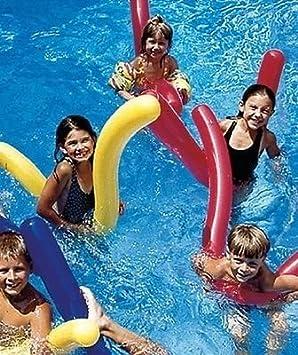 6 PK Doodles hinchable piscina fideos flotador juguete aprender a nadar agua aeróbic por inflable agua juguetes: Amazon.es: Juguetes y juegos