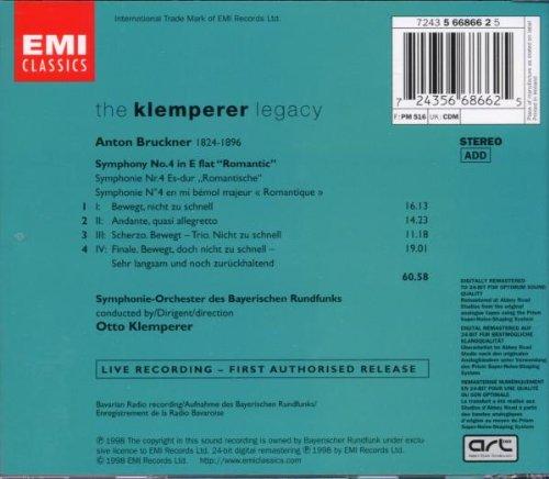 Bruckner: Symphony No. 4 (Klemperer, Live 1966) by EMI Classics Imports