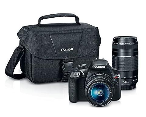 Canon EOS Rebel T6 Digital SLR Camera Kit with EF-S 18-55mm and EF 75-300mm Zoom Lenses (Black) (Digital Rebel Body)