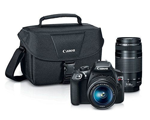 Zoom Canon Eos Digital Slr (Canon EOS Rebel T6 Digital SLR Camera Kit with EF-S 18-55mm and EF 75-300mm Zoom Lenses)